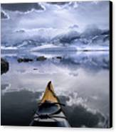 Mono Lake Winter Kayak Canvas Print by Buck Forester