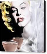 Monroe-seeing Beyond Smoke-n-mirrors Canvas Print by Reggie Duffie