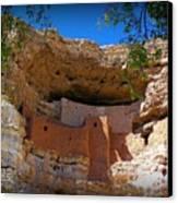 Montezuma Castle In Arizona Canvas Print by Jen White