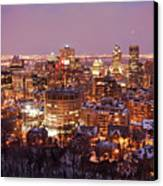 Montreal City Lights Canvas Print by Pierre Leclerc Photography