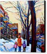 Montreal Winter Canvas Print