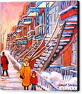 Montreal Winter Walk Canvas Print