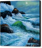 Moody Shores Canvas Print