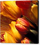 Moody Tulips Canvas Print by Garry Gay