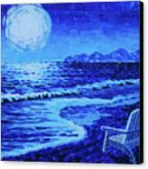 Moon Beach Canvas Print by Tommy Midyette