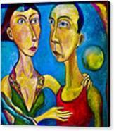 Moon Couple Canvas Print
