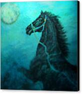 Moon Dance Canvas Print by The Art With A Heart By Charlotte Phillips