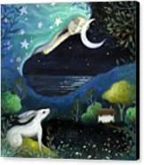 Moon Dream Canvas Print by Amanda Clark