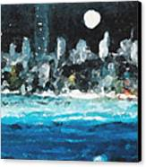 Moon Over Miami Canvas Print