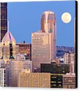 Moon Over Pittsburgh 2 Canvas Print by Emmanuel Panagiotakis