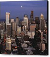 Moon Over Seattle Canvas Print