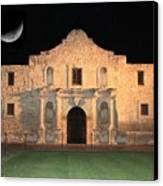 Moon Over The Alamo Canvas Print by Carol Groenen