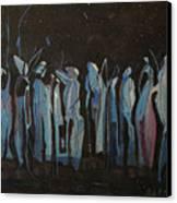 Moon Watchers Canvas Print by Paula Marsh