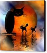 Mooncat's Catwalk Canvas Print by Issabild -