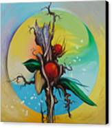 Moonflower Full Moon 6. Canvas Print