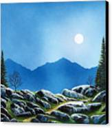 Moonlight Hike Canvas Print