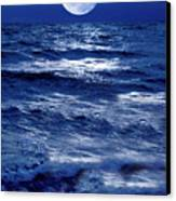 Moonlight Over The Ocean Canvas Print by Christian Lagereek