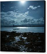 Moonlight Canvas Print by Rodell Ibona Basalo