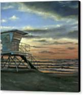 Moonlight Sunset Canvas Print by Lisa Reinhardt