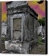Moonlit Cemetary Canvas Print