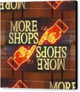 More Shops Canvas Print