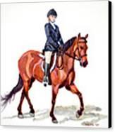 Morgan And Mystic Canvas Print by Cheryl Dodd