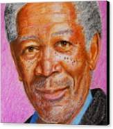 Morgan Freeman Canvas Print by David Hawkes