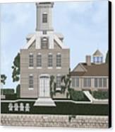 Morgan Point Mystic Harbor Conn Canvas Print