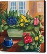 Morning Coffee Canvas Print by Dana Redfern