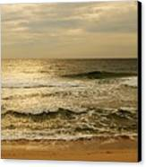 Morning On The Beach - Jersey Shore Canvas Print by Angie Tirado