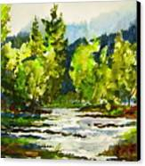 Morning On The River Canvas Print