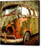 Moss Covered 23 Window Bus Canvas Print by Michael David Sorensen