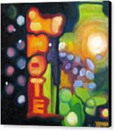 Motel Lights Canvas Print