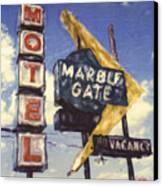 Motel Marble Gate Canvas Print