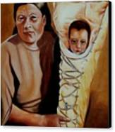 Mother And Son Canvas Print by Joni McPherson