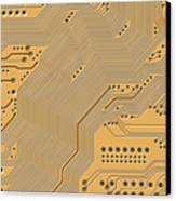 Motherboard - Printed Circuit Canvas Print by Michal Boubin
