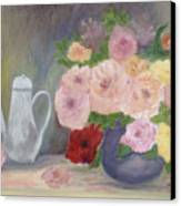 Mother's Roses Canvas Print by Shirley Lawing