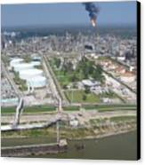 Motiva Petroleum Refinery Is Located Canvas Print