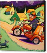 Motocycle Mike Canvas Print