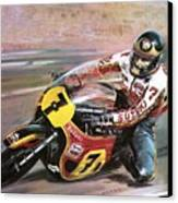 Motorcycle Racing Canvas Print by Graham Coton