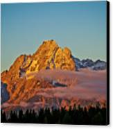Mount Moran Bathed In Sun Canvas Print by Brent Parks