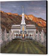 Mount Timpanogos Temple Canvas Print by Jeff Brimley
