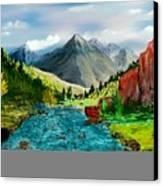 Mountaian Scene Canvas Print
