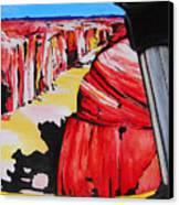 Mountain Bike Moab Slickrock Canvas Print by Susan M Woods