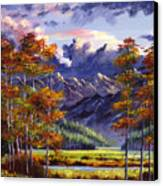 Mountain River Valley Canvas Print by David Lloyd Glover