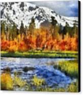 Mountain Canvas Print by Russ Harris