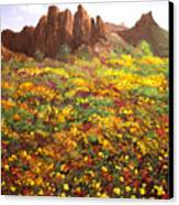 Mountain Wildflowers II Canvas Print