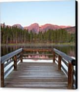 Mountains Behind Sprague Lake Canvas Print