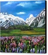 Mountains Landscape Acrylic  Painting Canvas Print