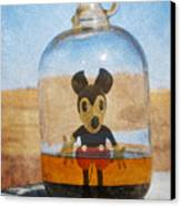Mouse In A Bottle  Canvas Print by Jerry Cordeiro